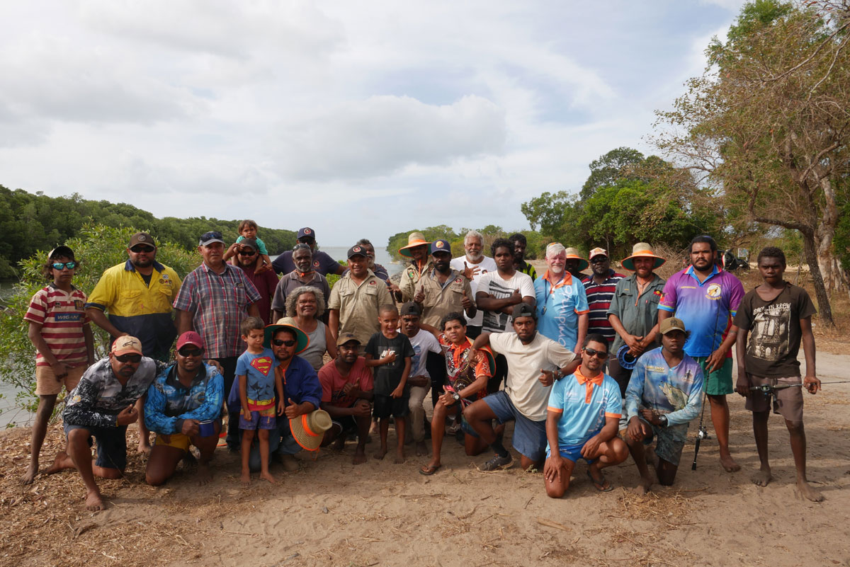 Camping on Country Hopevale 2019, group
